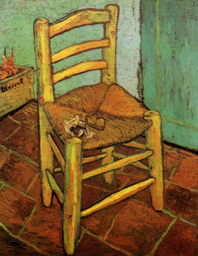 Vincent van Gogh Vincent's Chair with His Pipe