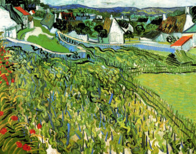 Vincent van Gogh Vineyards with a View of Auvers