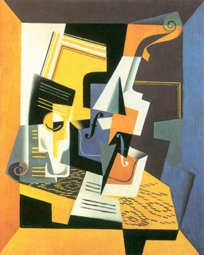 Juan Gris Violin and Glass