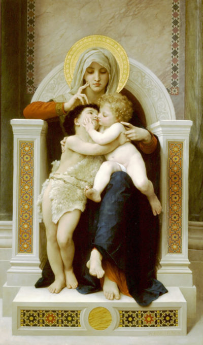 William-Adolphe Bouguereau Virgin - Jesus Saint-Jean Baptiste 1875