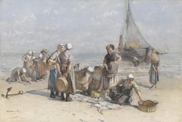 Bernardus Johannes Blommers Fishwives on the Beach at Scheveningen
