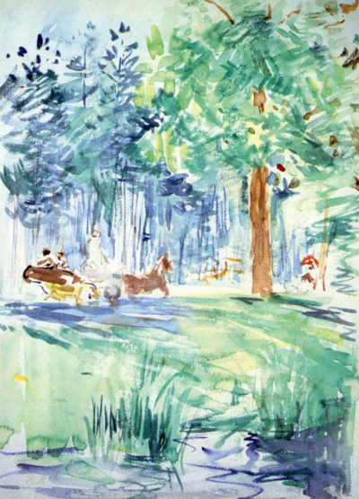 Berthe Morisot Wagon at the Bois de Boulogne