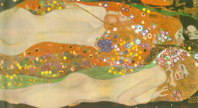 Gustav Klimt Water snakes (friends) II