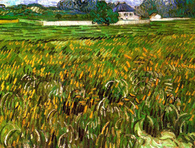 Vincent van Gogh Wheat Field at Auvers with White House