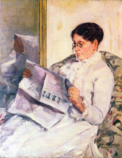Mary Cassatt When reading of Figaro