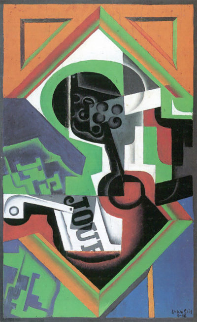 Juan Gris Whistle and fruit bowl of grapes