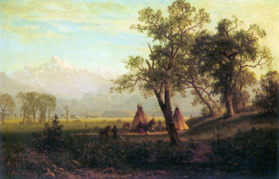 Albert Bierstadt Wind River Mountains in Nebraska