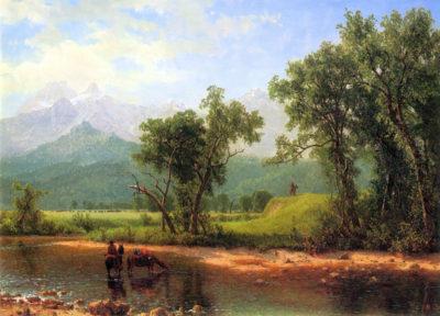 Albert Bierstadt Wind River Mountains