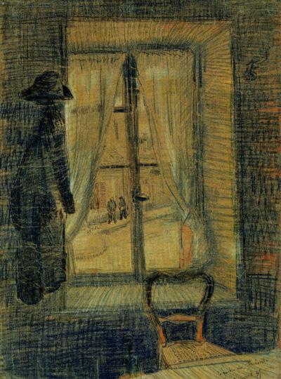 Vincent van Gogh Window in the Bataille Restaurant
