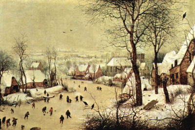 Pieter Bruegel Winter landscape with skaters