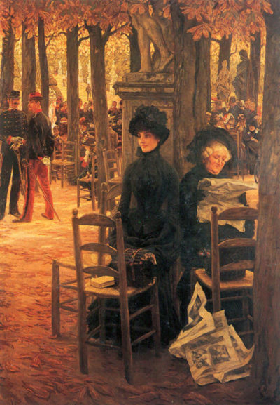 James Tissot Without a Dowry aka Sunday in the Luxembourg Gardens