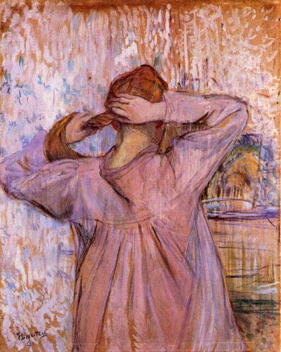 Henri de Toulouse-Lautrec Woman Combing her hair