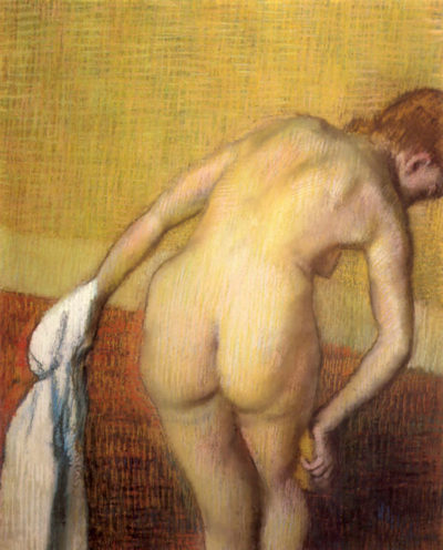 Edgar Degas Woman Drying with towel and sponge