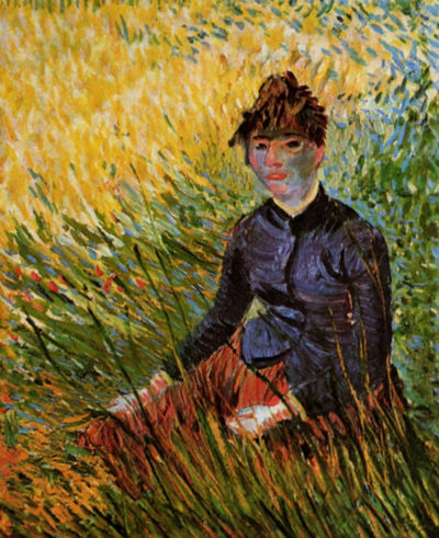 Vincent van Gogh Woman Sitting in the Grass