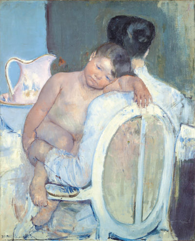 Mary Cassatt Woman Sitting with a Child in Her Arms
