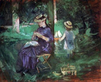 Berthe Morisot Woman and child in Garden