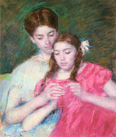 Mary Cassatt Woman and girl