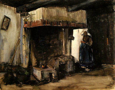 Vincent van Gogh Woman by a Hearth