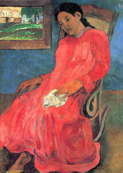 Paul Gauguin Woman in Red Dress