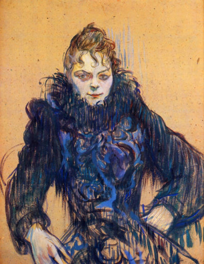 Henri de Toulouse-Lautrec Woman in a black boa