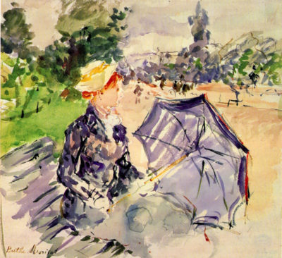 Berthe Morisot Woman in the Bois de Boulogne