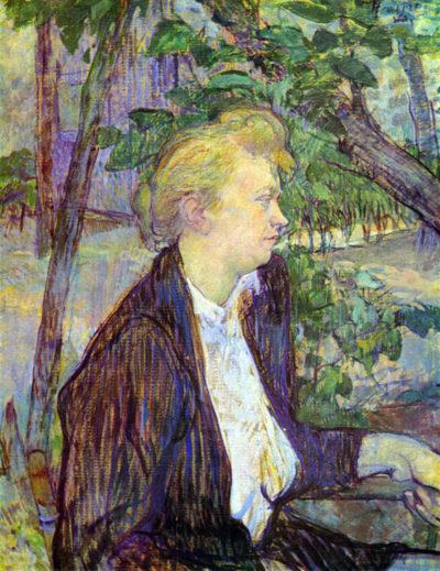 Henri de Toulouse-Lautrec Woman in the Garden