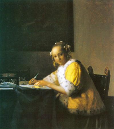 Johannes Vermeer Woman in yellow