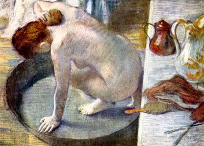 Edgar Degas Woman washing in the tub