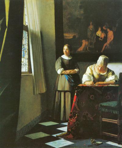 Johannes Vermeer Woman with messenger