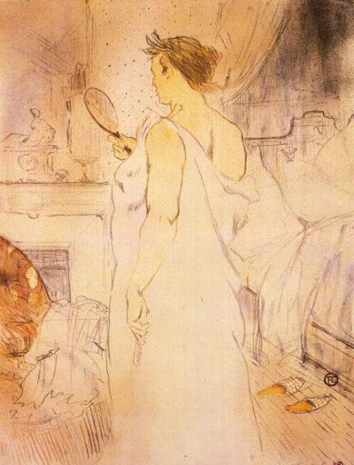 Henri de Toulouse-Lautrec Woman with mirror