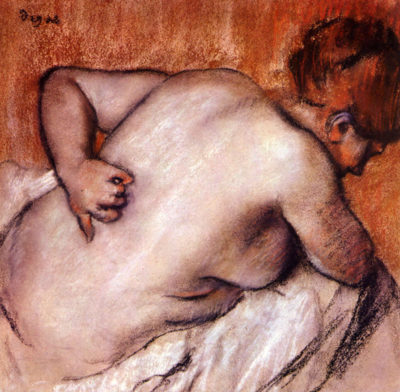 Edgar Degas Womans back