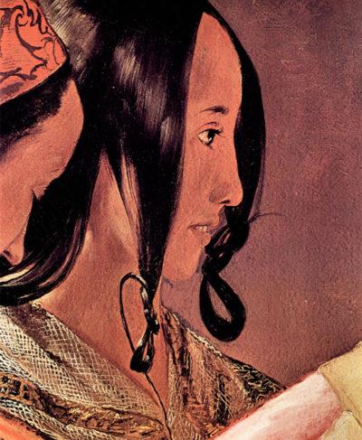 Georges de La Tour Woman's head in profile