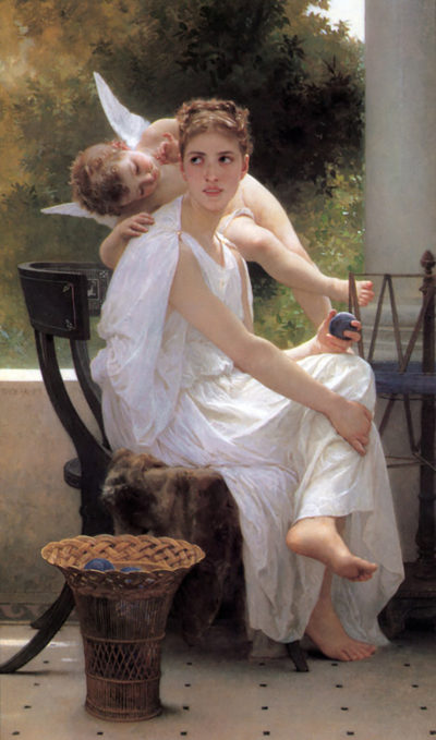 William-Adolphe Bouguereau Work Interrupted