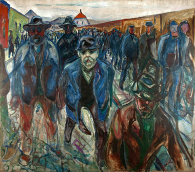 Edvard Munch Workers on their way home