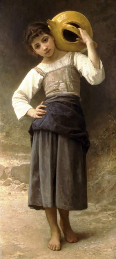 William-Adolphe Bouguereau Young Girl Going to the Spring