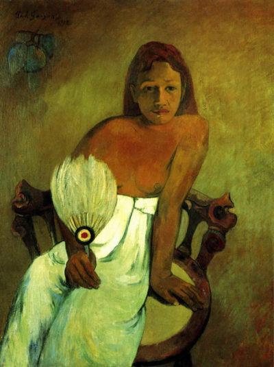 Paul Gauguin Young Girl with Fan