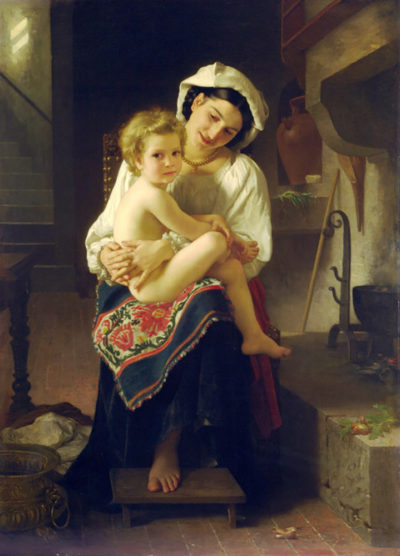 William-Adolphe Bouguereau Young Mother Gazing At Her Child