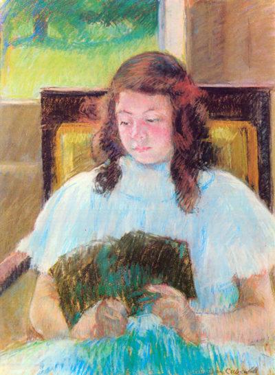 Mary Cassatt Young girl reading