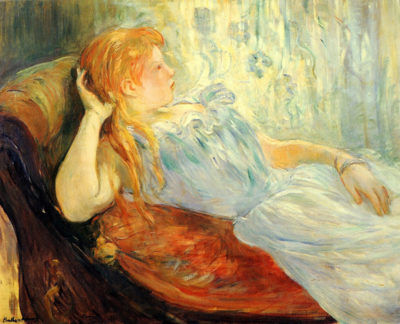 Berthe Morisot Young girl resting