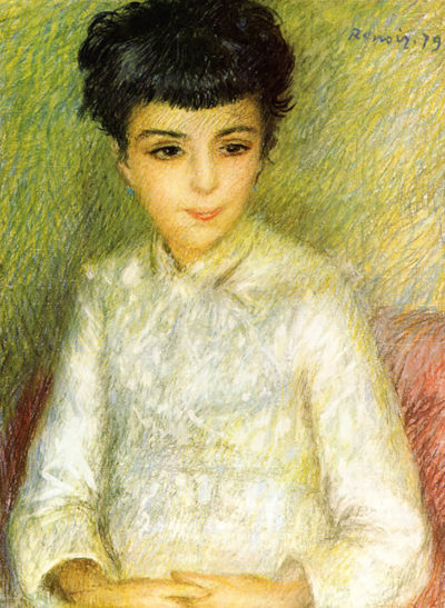 Pierre-Auguste Renoir Young girl with brown hair