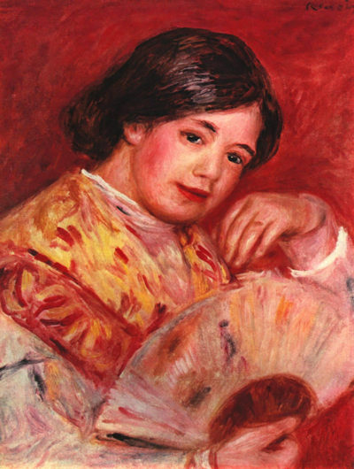 Pierre-Auguste Renoir Young girl with fan