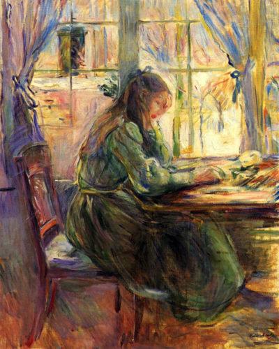 Berthe Morisot Young girl writing