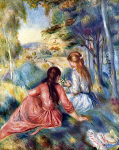 Pierre-Auguste Renoir Young girls in the meadow