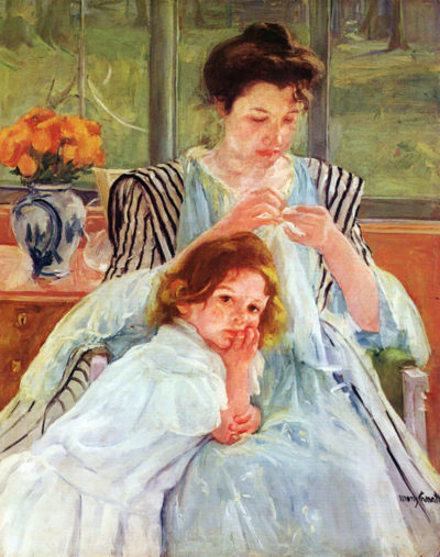 Mary Cassatt Young mother sewing