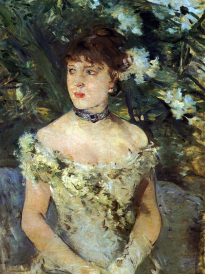 Berthe Morisot Young woman in a costume ball