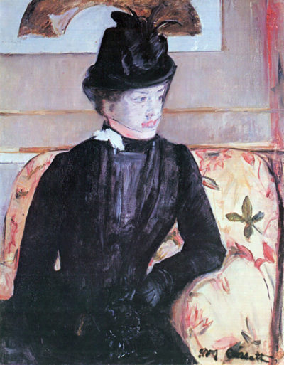 Mary Cassatt Young woman in black