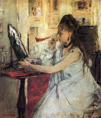 Berthe Morisot Young woman powdering her face