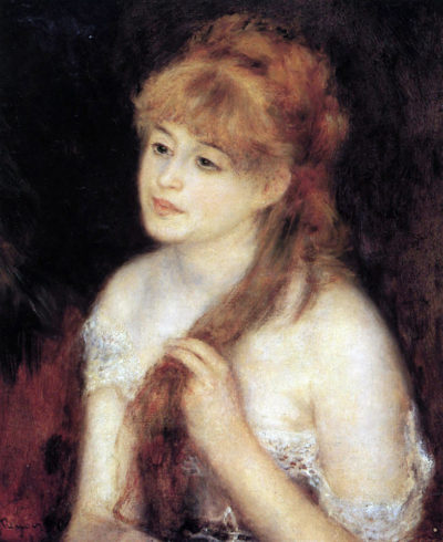 Pierre-Auguste Renoir Young woman strokes her hair