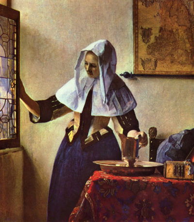 Johannes Vermeer Young woman with a water jug at the window