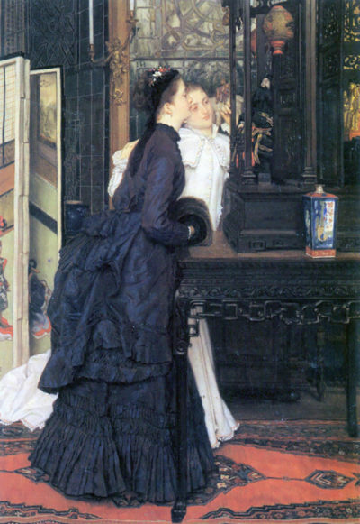 James Tissot Young women with Japanese goods